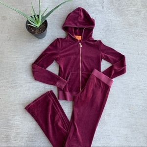 Juicy Couture Velour Burgundy Tracksuit
